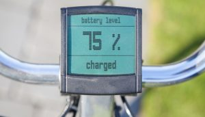 Electric bicycle battery level
