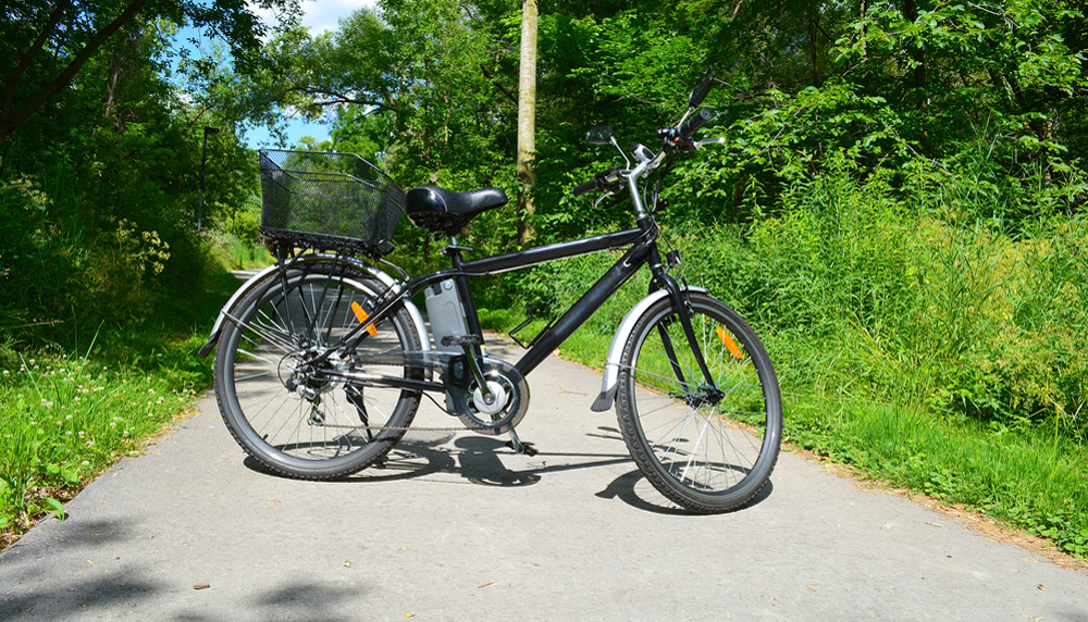 Electric bicycle in the Canadian park