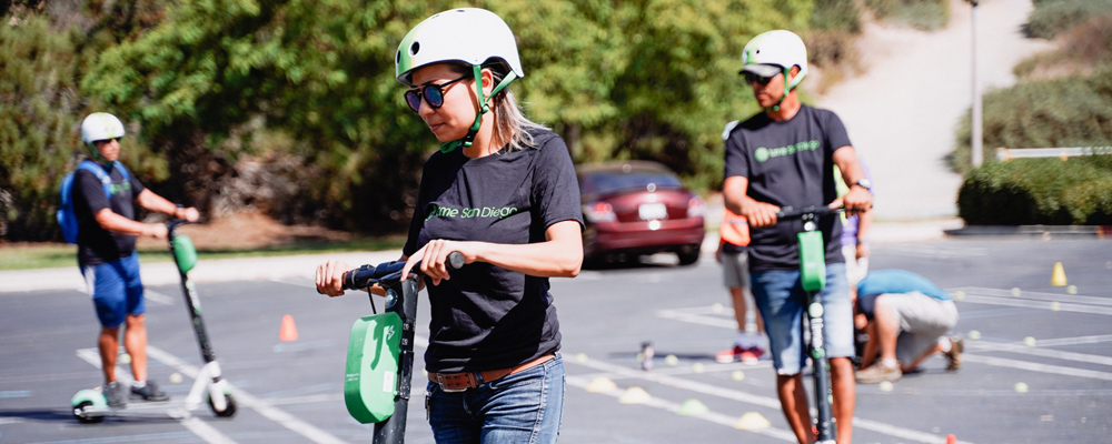 Electric scooter shared mobility program access