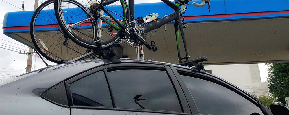 Car roof bike rack