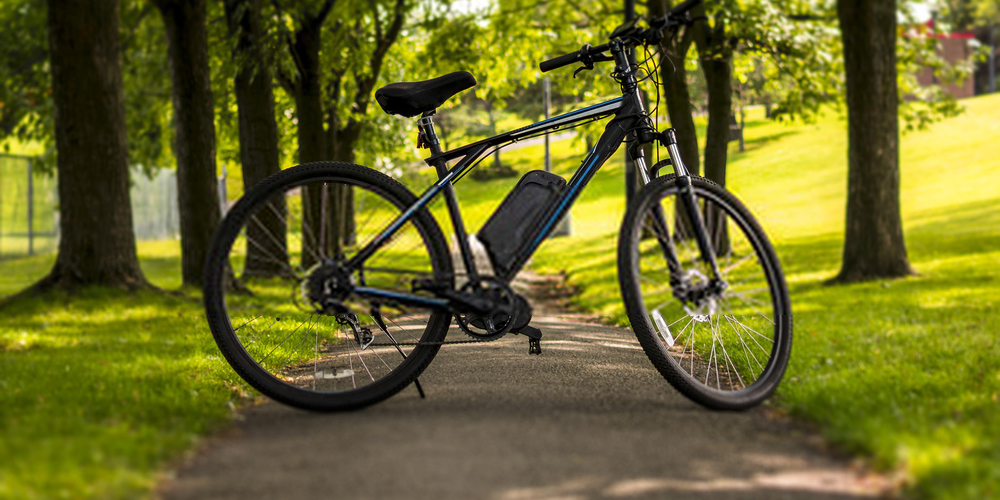 Electric bike on a park
