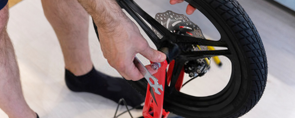 Man assembling bike